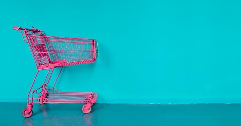مغادرة عربة التسوق